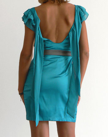 robe courte turquoise dos nu Lipsy en location