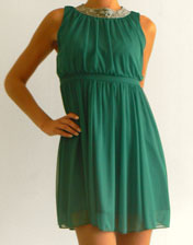 robe mousseline verte en location
