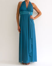 Robe longue turquoise en location