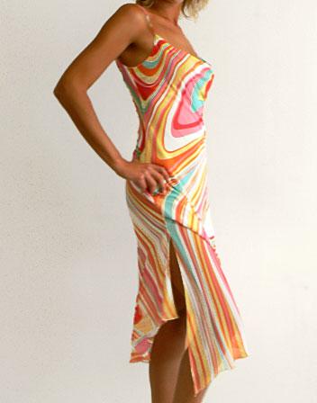 robe mi longue trs colore en location - Robe Longue Colore