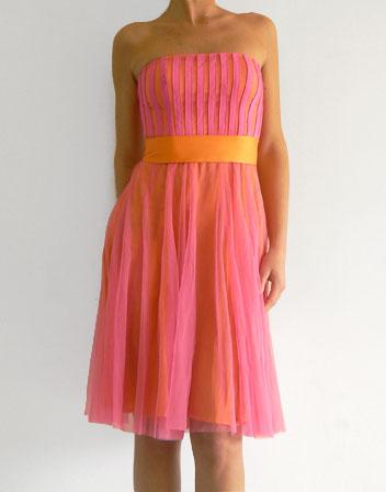 location de robe bustier rose et orange robe de gala haut bustier rose orange en location. Black Bedroom Furniture Sets. Home Design Ideas