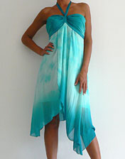 location robe bustier bleu tie and dye pour mariage