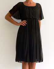 location robe plissee noire style vintage