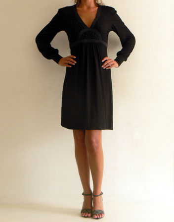a88012b8fbb Robe manche longue noir - my home production
